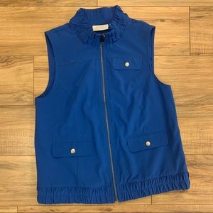 CHICO'S | Blue Zip Up Vest | Size 0